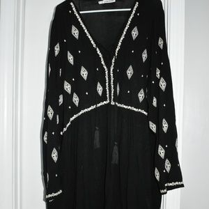 Black Dress/Tunic with Diamond Accents